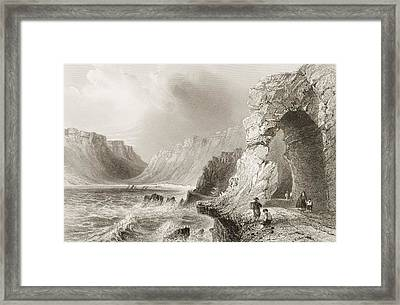 Glengariff,county Cork, Ireland. Drawn Framed Print by Vintage Design Pics