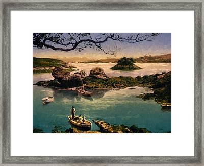 Glengarriff Harbor Framed Print by John K Woodruff