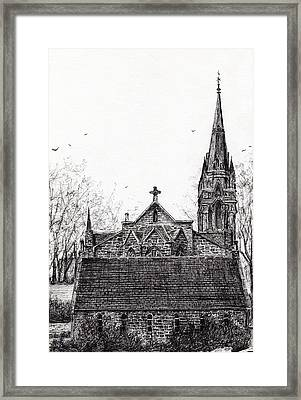 Glenmuick Church Framed Print by Vincent Alexander Booth
