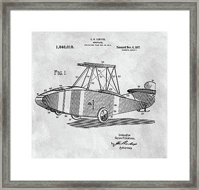 Glenn Curtiss Airplane Patent Framed Print by Dan Sproul