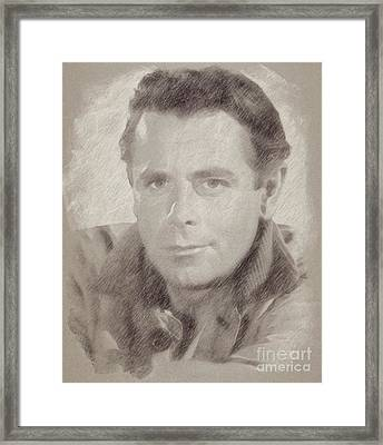 Glenn Ford Hollywood Actor Framed Print by Frank Falcon