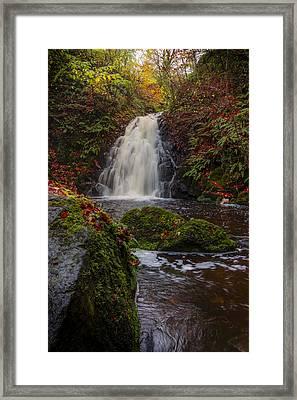 Gleno Falls Portrait View Framed Print