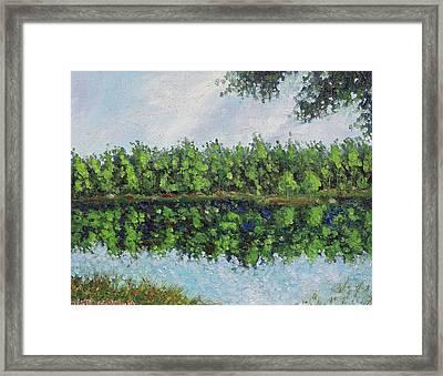 Glenoak Lake Framed Print