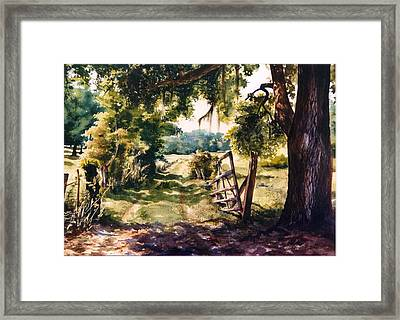 Glen's Pasture Framed Print by Marion  Hylton