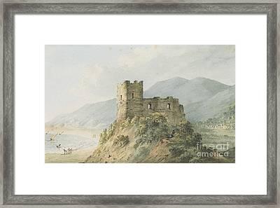 Glensanda Castle Loch Linnhe Framed Print