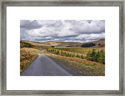Framed Print featuring the photograph Glensherup Reservoir by Jeremy Lavender Photography