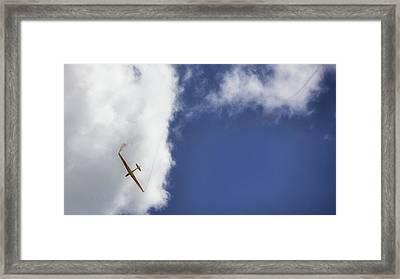 Glider Framed Print by Martin Newman