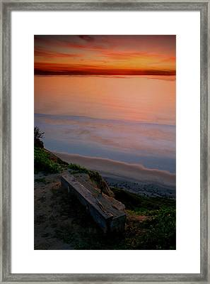 Gliderport Sunset 2 Framed Print