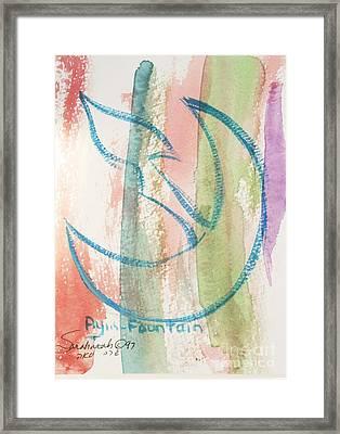 Gliding Ayin Framed Print