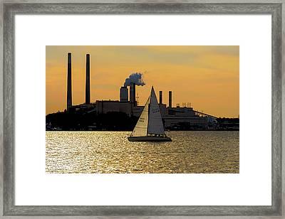Gliding Down The Patapsco Framed Print