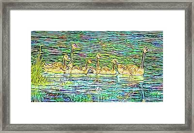 Gliding Forward Framed Print by Joel Bruce Wallach