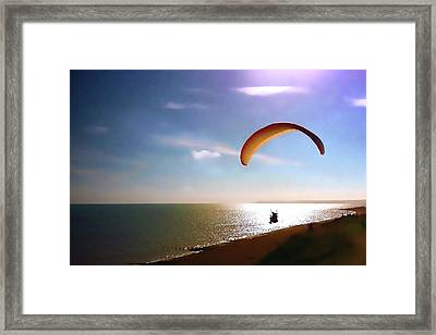 Gliding Framed Print by Sharon Lisa Clarke