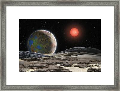 Gliese 581 C Framed Print by Lynette Cook