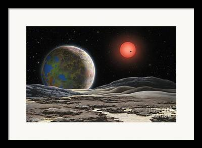Extrasolar Planet Paintings Framed Prints