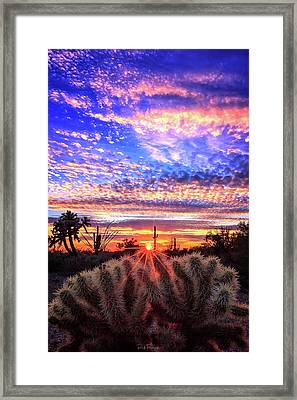 Framed Print featuring the photograph Glimmering Skies by Rick Furmanek