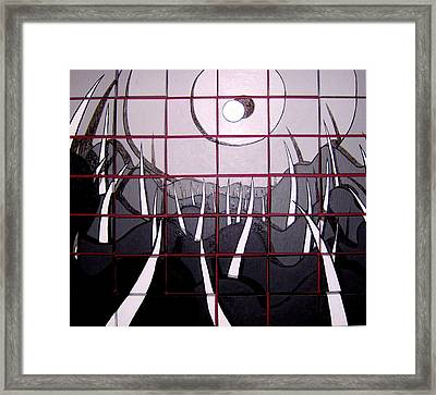 Glimps Of West Mountain Framed Print by Jason Charles Allen