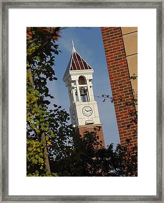 Glimpse Of The Bell Tower Framed Print by Coby Cooper