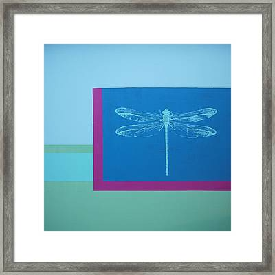 Glimspe Of Nature-dragonfly Framed Print