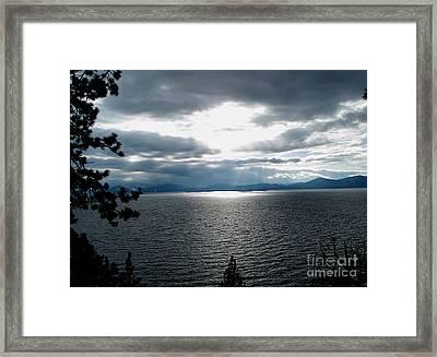 Glistening Lake  Framed Print