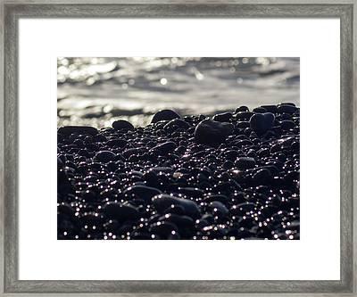 Glistening Rocks Framed Print