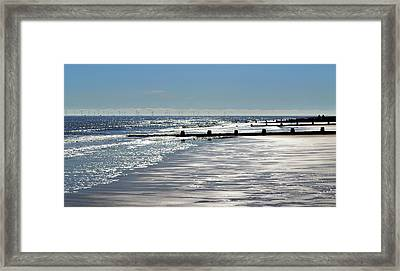 Glistening Shore Framed Print