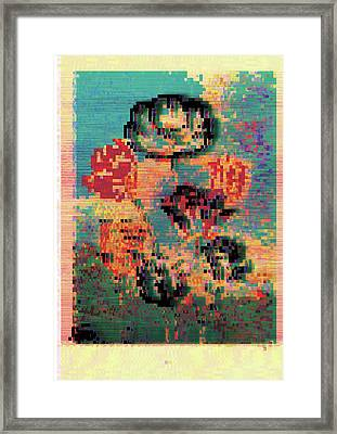 Framed Print featuring the digital art Glitched Tulips by Bee-Bee Deigner