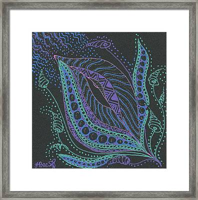 Glitter Flower Framed Print by Jan Steinle
