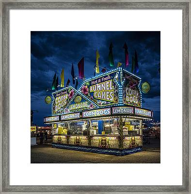 Glittering Concession Stand At The Colorado State Fair In Pueblo In Colorado Framed Print by Carol M Highsmith