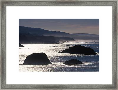 Glittering Sea Framed Print