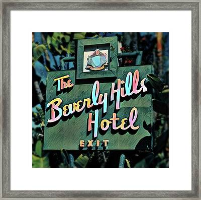 Glitzy Beverly Hills Hotel Framed Print by Russ Harris