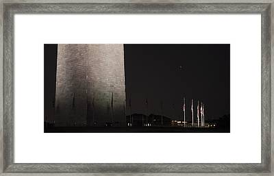 Glmpse Of The Washington Monument Framed Print