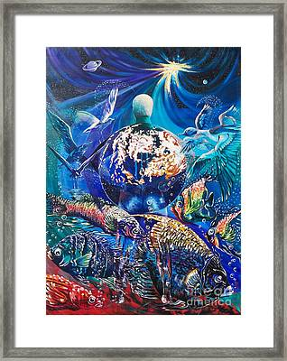 Planet  Earth - Our Family Tree Framed Print