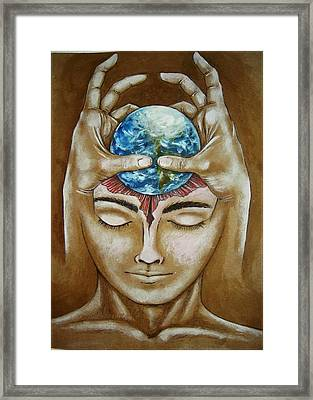 Global  Awareness Framed Print by Paulo Zerbato