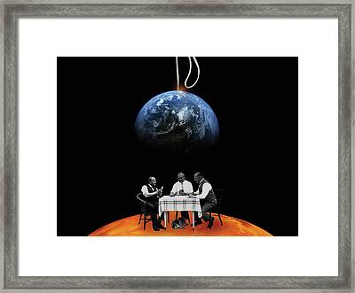 Global Gamblers Framed Print