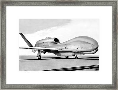 Global Hawk Framed Print by Lyle Brown