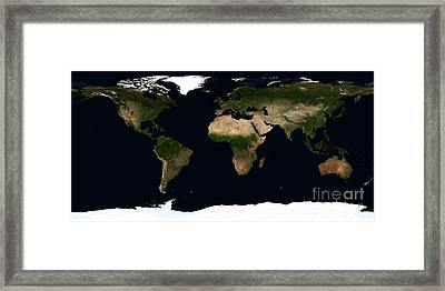 Global Image Of The World Framed Print by Stocktrek Images
