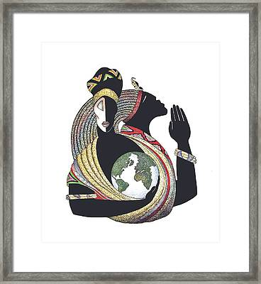 Global Love Framed Print by Albert and Simone Fennell