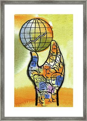 Global Market Framed Print
