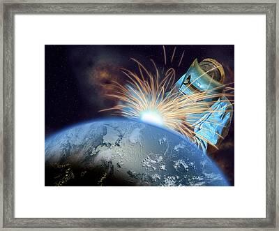 Global Meltdown Framed Print