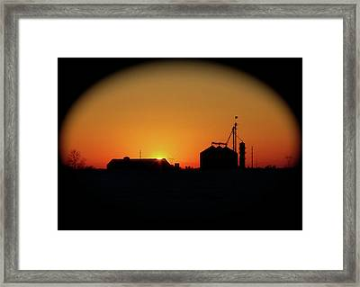 Global Sunset Framed Print by Sue Stefanowicz