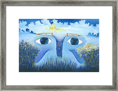 Global Vision For The Disabled Framed Print by Herold Alveras
