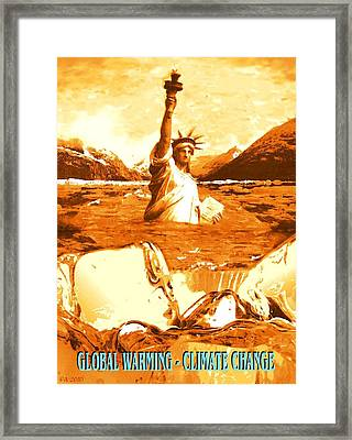Global Warming, Climate Change, Environment Framed Print