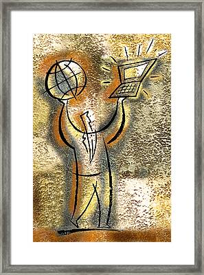 Globalization Framed Print by Leon Zernitsky