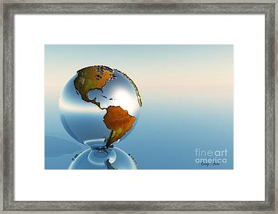 Globe Framed Print by Corey Ford