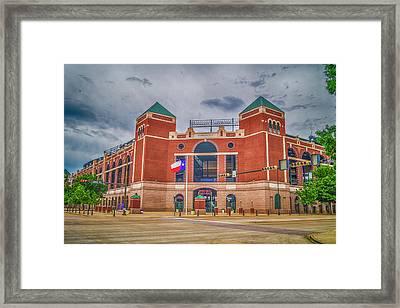 Globe Life Park At Arlington, Texas Framed Print by Craig David Morrison