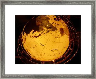 Globe Light One Framed Print by Katherine Adams