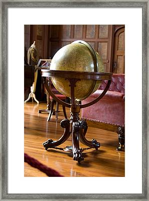 Globe Of The Constellations Framed Print by Carl Purcell