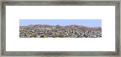 Globe Panorama Framed Print by Sharon Broucek