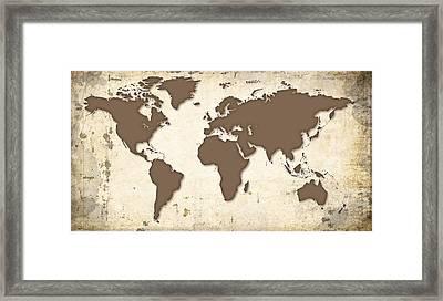 Globe Trotter Map Framed Print