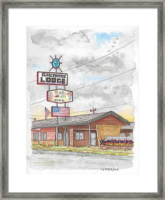 Globetrotter Lodge In Route 66, Holbrook, Arizona Framed Print